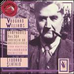 Vaughan Williams: Symphonies Nos. 3 & 4; Fantasia on Greensleeves