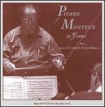 Pierre Monteux in France (1952-58 Concert Performances) [Box Set]