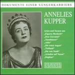 """Dokumente einer S""""ngerkarriere: Annelies Kupper"""