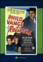 PHILO VANCE RETURNS