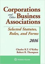 Corporations and Other Business Associations 2016
