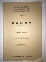 Faust:  Opera in Five Acts (G. Schirmer's Collection of Opera Librettos)