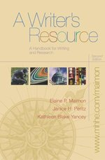 A Writers Resource (Spiral) With Student Access to Catalyst 2.0 (Paperback)