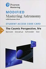 The Modified Mastering Astronomy with Pearson Etext--Standalone Access Card--For Cosmic Perspective 9th